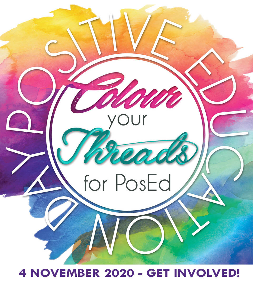Colour your threads for PosEd logo 2020 date